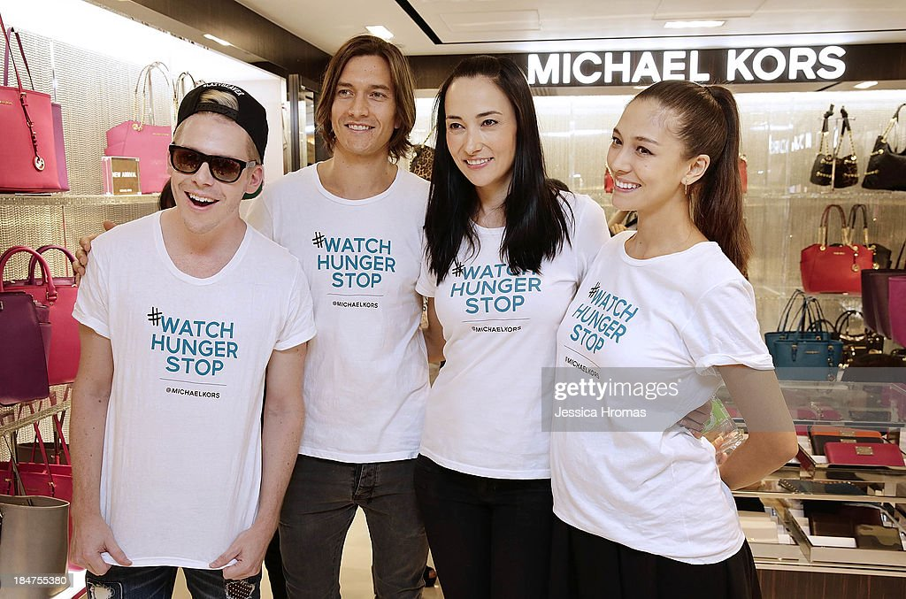 Mark Ryan, Jesper Mcilroy, Lisa Selesner and Cara C attend Michael Kors World Food Day - Hong Kong at on October 16, 2013.