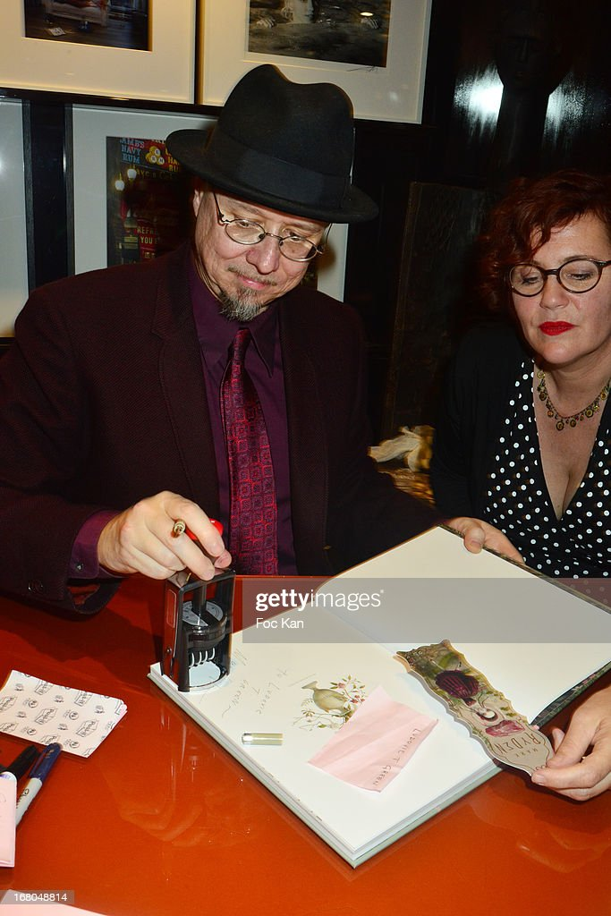 Mark Ryden and his wife painter Marion Peck attend the 'Pinxit' Mark Ryden Book Launch Cocktail At the Taschen Store on May 4, 2013 in Paris, France.