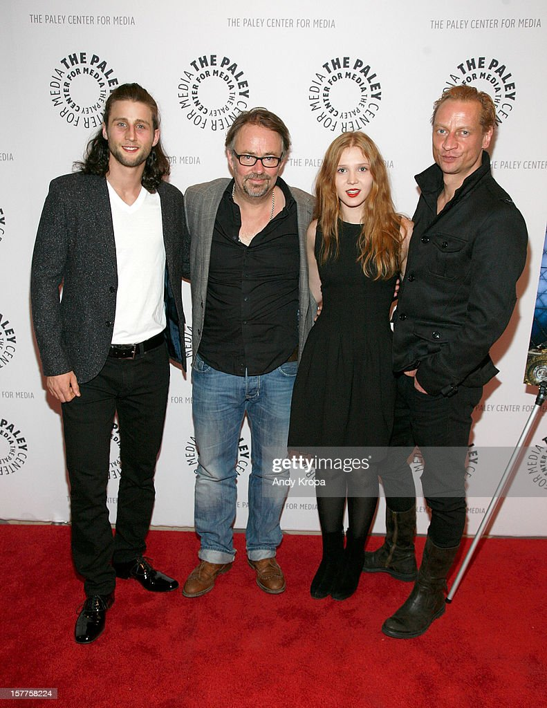 Mark Ryder, Olivier Bibas, Isolda Dychauk and Victor Schefe attend 'Borgia' American Premiere at Paley Center For Media on December 5, 2012 in New York City.