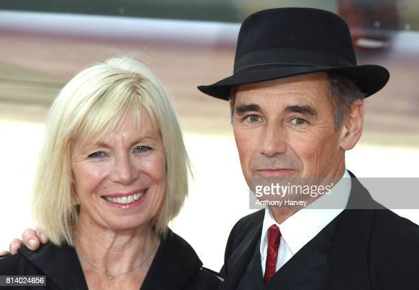 Mark Rylance and his wife Claire van Kampen attend the 'Dunkirk' World Premiere at Odeon Leicester Square on July 13 2017 in London England