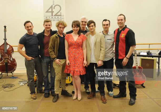 Mark S Hoebee Sam Weber Jason Loughlin Nat Zegree Bligh Voth David Sonneborn Alex Boniello James Barry Scott Moreau and Hunter Foster attend the...