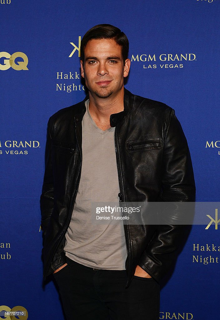 <a gi-track='captionPersonalityLinkClicked' href=/galleries/search?phrase=Mark+Salling&family=editorial&specificpeople=5745691 ng-click='$event.stopPropagation()'>Mark Salling</a> arrives at the grand opening of Hakkasan Nightclub at the MGM Grand on April 27, 2013 in Las Vegas, Nevada.