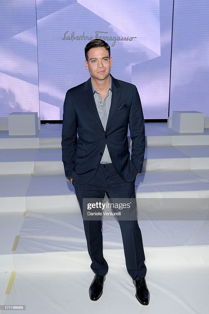 <a gi-track='captionPersonalityLinkClicked' href=/galleries/search?phrase=Mark+Salling&family=editorial&specificpeople=5745691 ng-click='$event.stopPropagation()'>Mark Salling</a> attends the 'Salvatore Ferragamo' show as part of Milan Fashion Week Spring/Summer 2014 on June 23, 2013 in Milan, Italy.