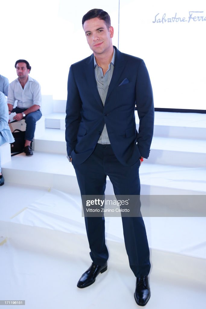 Mark Salling attends the Salvatore Ferragamo show during Milan Menswear Fashion Week Spring Summer 2014 on June 23, 2013 in Milan, Italy.
