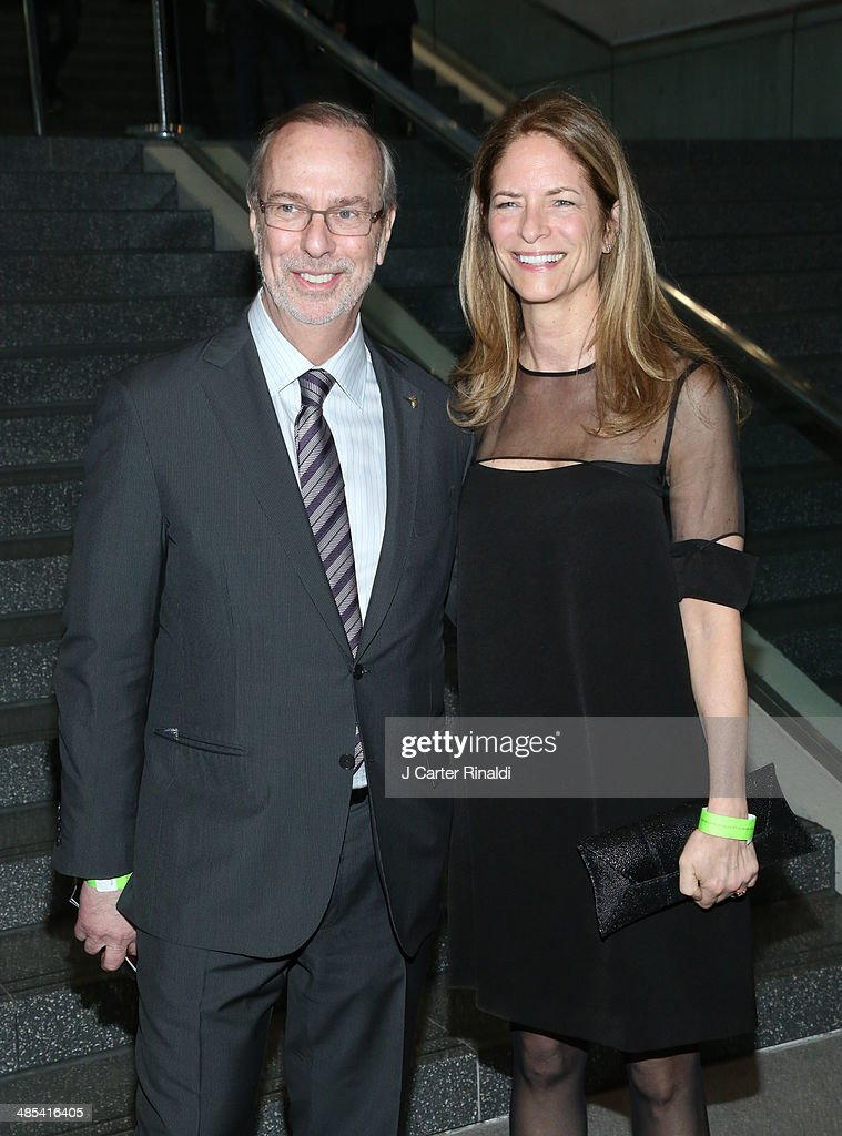 mark schienberg and guest attend the East Side House Gala Preview during the 2014 New York Auto Show at the Jacob Javits Center on April 17, 2014 in New York City.