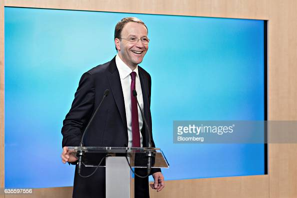 Mark Schneider chief executive officer of Nestle SA reacts during a news conference to announce the company's fullyear results at the Nestle...