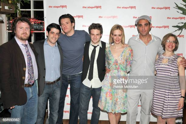Mark Schultz Evan Cabnet Jason Butler Harner Ben Rappaport Sarah Paulson Bobby Cannavale and Jackie Hoffman attend AfterParty for Opening Night of...