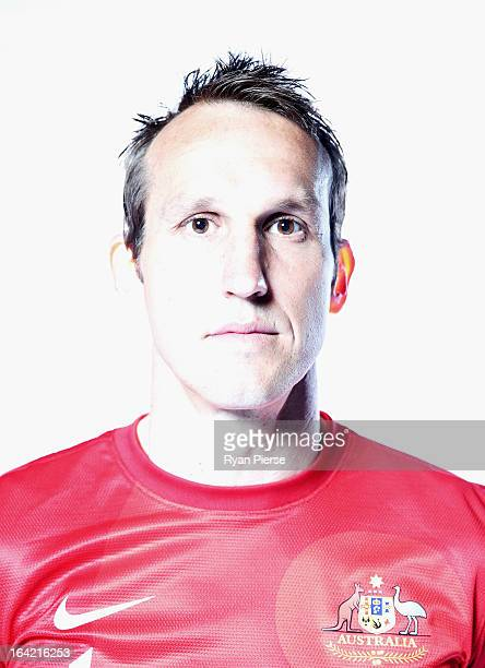 Mark Schwarzer of Australia poses during a Socceroos Portrait Session on March 21 2013 in Sydney Australia