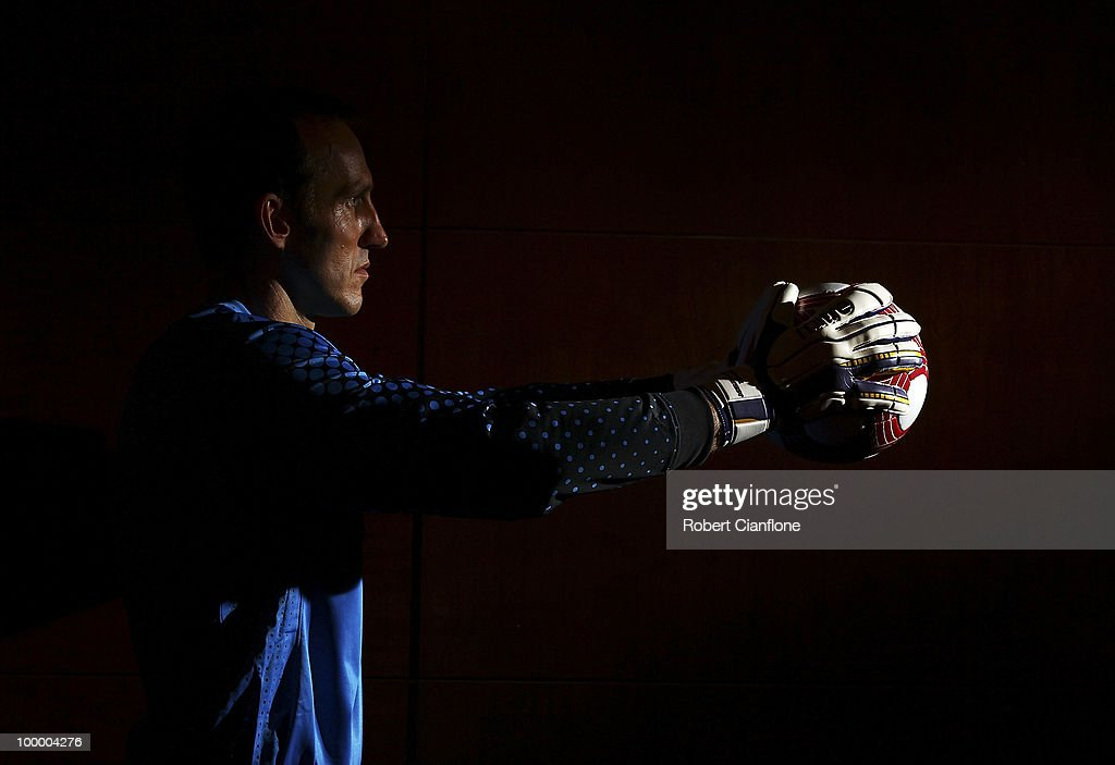 Mark Schwarzer of Australia poses for a portrait during an Australian Socceroos portrait session at Park Hyatt Hotel on May 20, 2010 in Melbourne, Australia.