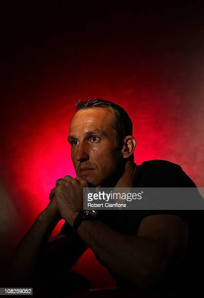 Mark Schwarzer of Australia poses for a portrait during an Australian Socceroos media session at the Marriot Hotel on January 23 2011 in Doha Qatar...