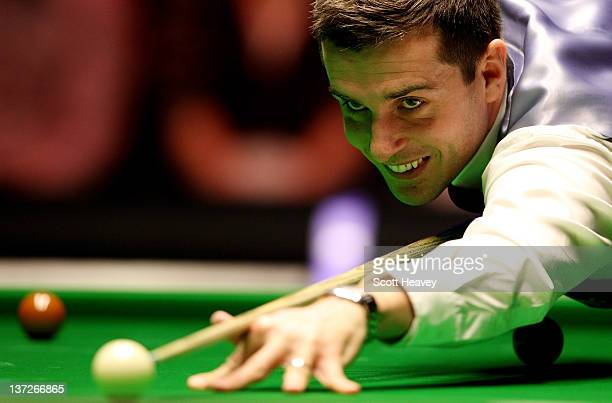 Mark Selby in action during his match against Stephen Lee during day four of The Masters at Alexandra Palace on January 18 2012 in London England