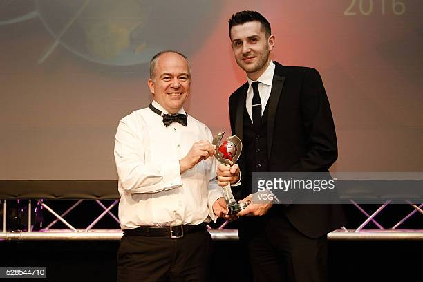 Mark Selby of England attends the annual endofseason awards dinner on May 6 2016 in Manchester England
