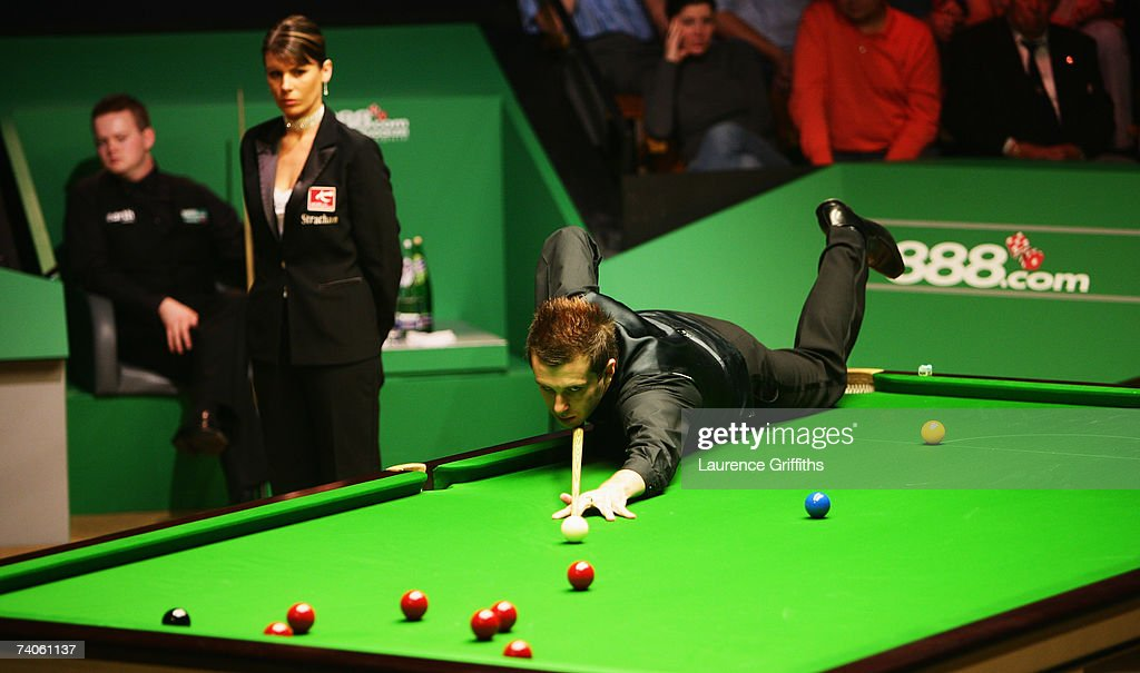 Mark Selby of England in action during his semi final match against Shaun Murphy of England in the 888com World Championship at the Crucible Theatre...