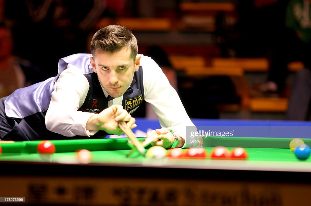 Mark Selby of England plays a shot during the match against Zhang Anda of China on day three of the World Snooker Australia Open at the Bendigo Stadium on July 11, 2013 in Bendigo, Australia.