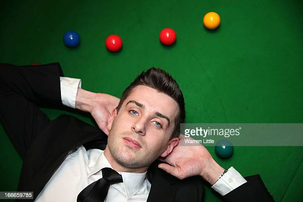 Mark Selby of England poses during the media launch for the 2013 Betfair World Snooker Championship at The Groucho Club on April 15 2013 in London...