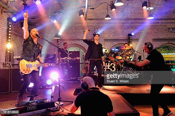 Mark Sheehan and Danny O'Donoghue from The Script perform on the From The Storehouse With Dermot Whelan show which aired on RTE 2 ahead of this...