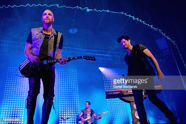 Mark Sheehan and Danny O'Donoghue of The Script perform on stage at Aragon Ballroom on October 27 2012 in Chicago Illinois
