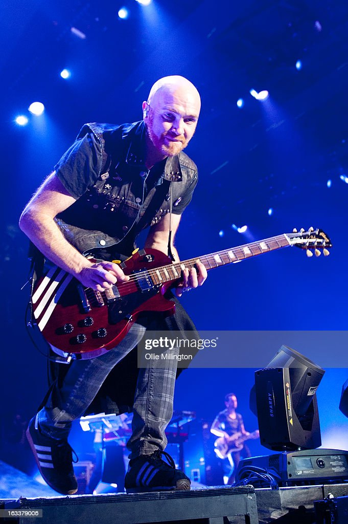 Mark Sheehan of The Script performs on stage in concert on the opening night of the bands March 2013 UK Tour during the #3 World Tour at Nottingham Capital FM Arena on March 8, 2013 in Nottingham, England.