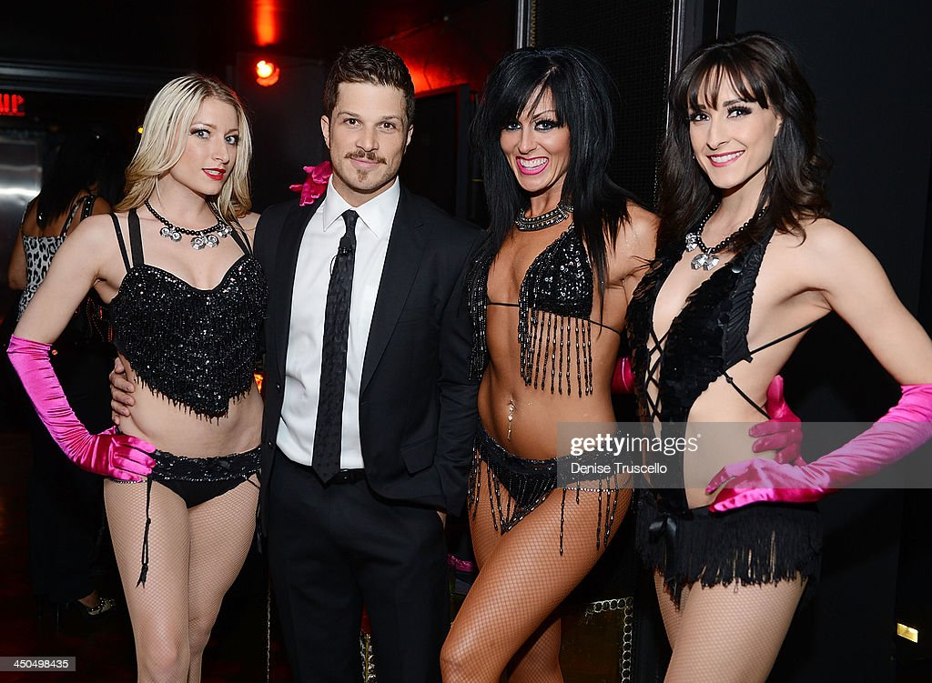 Mark Shunock (2nd from L) and Jennifer Romas dancers attend Mondays Dark with Marck Shunock charity event benefit for Opportunity Village on November 18, 2013 in Las Vegas, Nevada.