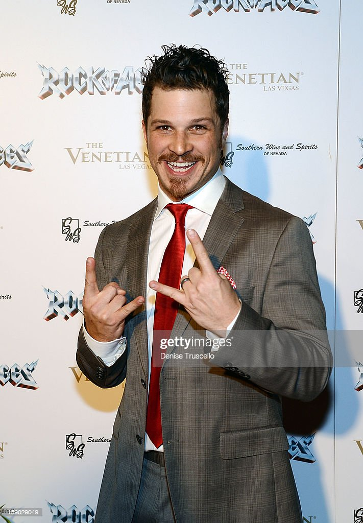 Mark Shunock arrives at the Rock Of Ages opening after party at The Venetian on January 5, 2013 in Las Vegas, Nevada.