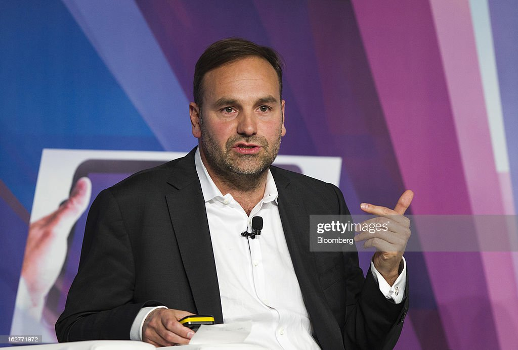 <a gi-track='captionPersonalityLinkClicked' href=/galleries/search?phrase=Mark+Shuttleworth&family=editorial&specificpeople=2620245 ng-click='$event.stopPropagation()'>Mark Shuttleworth</a>, founder of Ubuntu, speaks on a panel during a keynote address at the Mobile World Congress in Barcelona, Spain, on Tuesday, Feb. 26, 2013. The Mobile World Congress, where 1,500 exhibitors converge to discuss the future of wireless communication, is a global showcase for the mobile technology industry and runs from Feb. 25 through Feb. 28. Photographer: Angel Navarrete/Bloomberg via Getty Images