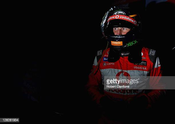 Mark Skaife driver of the Team Vodafone Holden prepares for pratice for the Bathurst 1000 which is round 10 of the V8 Supercars Championship Series...