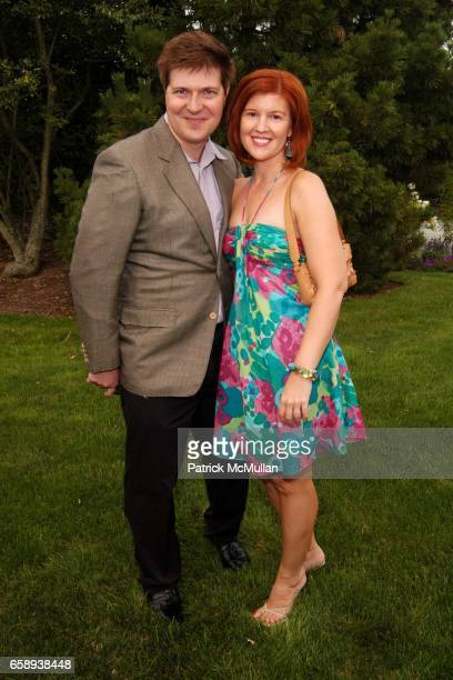 Mark Smith and Noelle Kowalczyk attend PULSE OF THE CITY GALA Comes To The Hamptons Hosted by the CARDIOVASCULAR RESEARCH FOUNDATION at Private...
