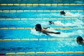 Mark Spitz of the USA is shown in action during the men's 200meter butterfly final in the 1972 Summer Olympics Spitz won the gold medal for this event