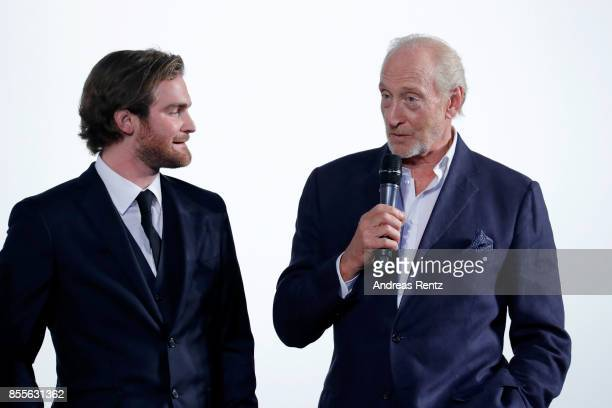 Mark Stanley and Charles Dance speak on stage at the 'Euphoria' premiere during the 13th Zurich Film Festival on September 29 2017 in Zurich...