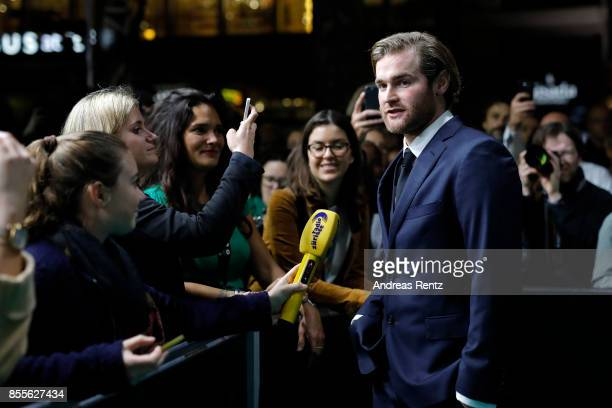 Mark Stanley gives an interview as he attends the 'Euphoria' premiere during the 13th Zurich Film Festival on September 29 2017 in Zurich Switzerland...