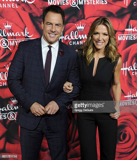 Mark Steines and Debbie Matenopoulos arrive at Hallmark Channel And Hallmark Movies And Mysteries Winter 2017 TCA Press Tour at The Tournament House...