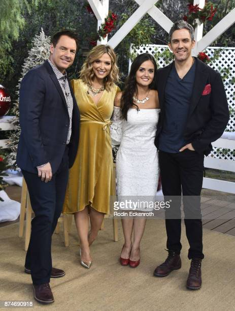 Mark Steines Debbie Matenopoulos Danica McKellar and Neal Bledsoe pose for portrait at Hallmark's 'Home Family at Universal Studios Hollywood on...