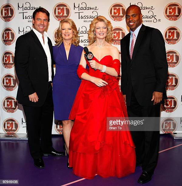 Mark Steines Mary Hart and Kevin Frazier attend Mary Hart Wax Figure Unveiling At Madame Tussauds Hollywood at Madame Tussauds on November 9 2009 in...