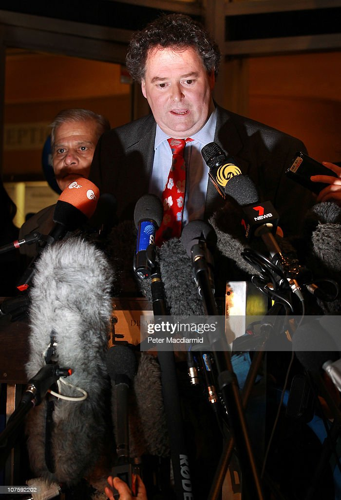 Mark Stephens, lawyer to <a gi-track='captionPersonalityLinkClicked' href=/galleries/search?phrase=Julian+Assange&family=editorial&specificpeople=7117000 ng-click='$event.stopPropagation()'>Julian Assange</a>, talks to reporters at Westminster Magistrates court on December 14, 2010 in London, England. Wikileaks' <a gi-track='captionPersonalityLinkClicked' href=/galleries/search?phrase=Julian+Assange&family=editorial&specificpeople=7117000 ng-click='$event.stopPropagation()'>Julian Assange</a> has been granted conditional bail, however he will remain in police custody for the next 48 hours as Swedish prosecutors appeal the decision.