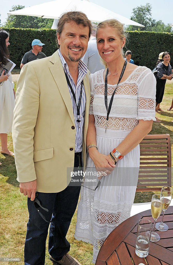 Mark Stewart (L) and wife Anne attend the Cartier Style & Luxury Lunch at the Goodwood Festival of Speed on July 14, 2013 in Chichester, England.