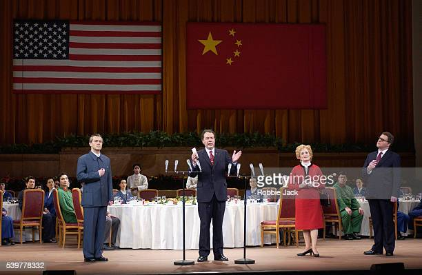 Mark Stone James Maddalena Janis Kelly as and Roland Wood in the English National Opera production of Nixon in China at the London Coliseum