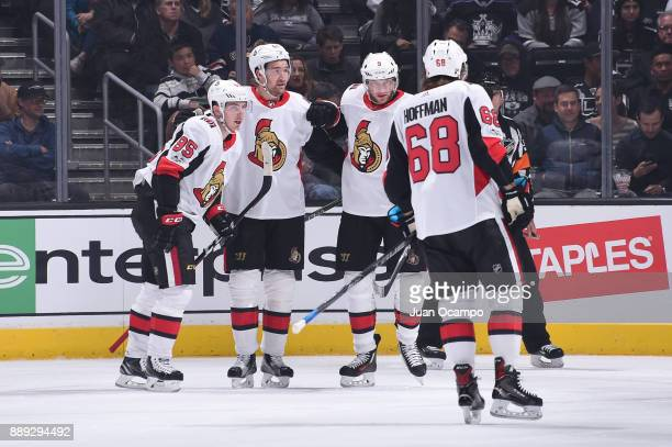 Mark Stone Matt Duchene Bobby Ryan and Mike Hoffman of the Ottawa Senators celebrate after scoring a goal against the Los Angeles Kings at STAPLES...