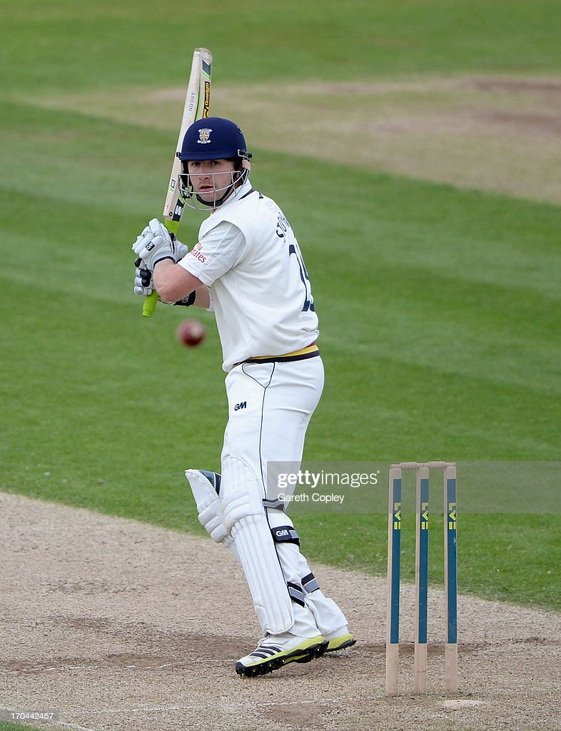 Mark Stoneman of Durham bats during day two of the LV County Championship Division One match between Durham and Warwickshire at The Riverside on June 13, 2013 in Chester-le-Street, England.