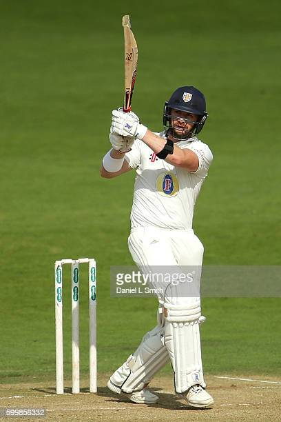 Mark Stoneman of Durham bats during Day Two of the Specsavers County Championship Division One match between Yorkshire and Durham at Headingley on...