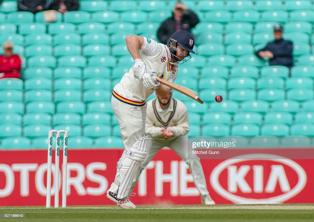 Mark Stoneman of Durham batting during the Specsavers County Championship Division One match between Surrey and Durham at the Kia Oval Cricket Ground, on May 02, 2016 in London, England.