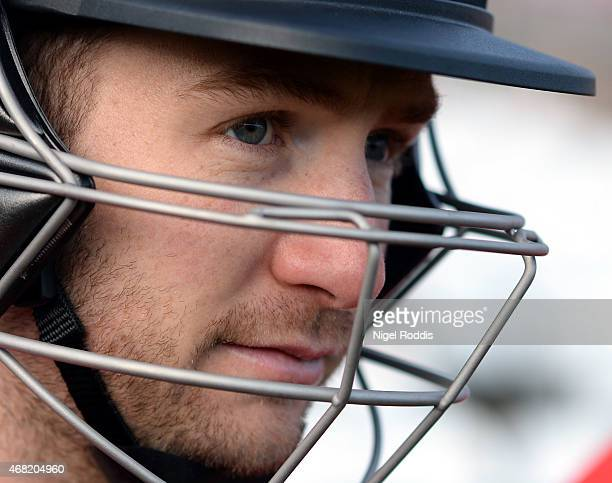 Mark Stoneman of Durham during the Durham CCC Photocall at The Riverside on March 31 2015 in ChesterleStreet England