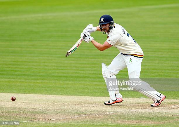 Mark Stoneman of Durham hits out during day three of the LV County Championship match between Middlesex and Durham at Lord's Cricket Ground on May 4...
