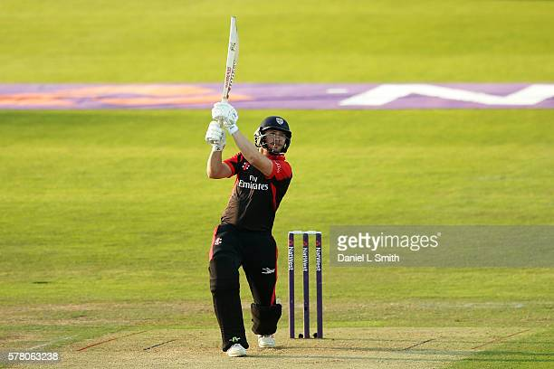 Mark Stoneman of Durham Jets bats during the NatWest T20 Blast match between Yorkshire Vikings and Durham Jets at Headingley on July 20 2016 in Leeds...