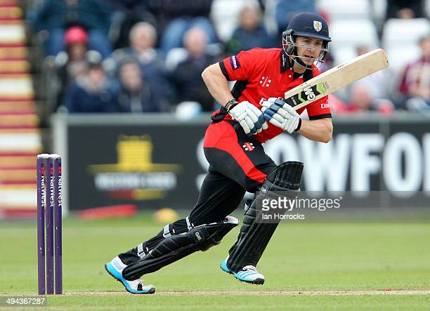 Mark Stoneman of Durham Jets during The Natwest T20 Blast match between Durham Jets and Lancashire Lightning at The Emirates Durham ICG on May 29...