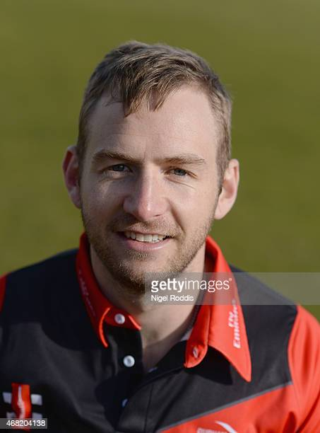 Mark Stoneman of Durham poses for a portrait during the Durham CCC Photocall at The Riverside on March 31 2015 in ChesterleStreet England