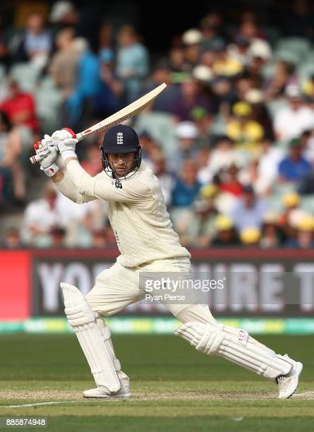 Mark Stoneman of England bats during day four of the Second Test match during the 2017/18 Ashes Series between Australia and England at Adelaide Oval...