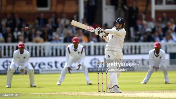 Mark Stoneman of England bats during day three of the 3rd Investec Test match between England and the West Indies at Lord's Cricket Ground on...
