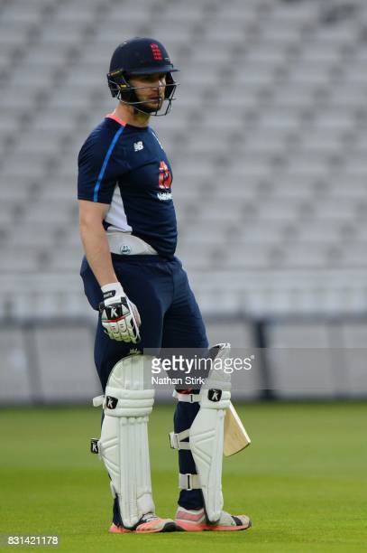 Mark Stoneman of England looks on during the England Net Session at Edgbaston on August 14 2017 in Birmingham England