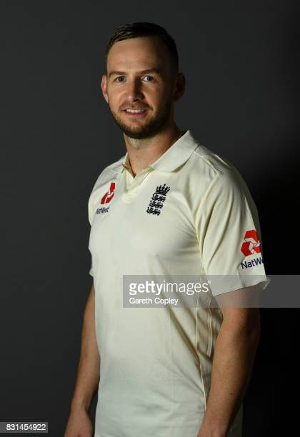 Mark Stoneman of England poses for a portrait at Edgbaston on August 14 2017 in Birmingham England