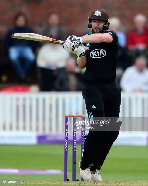 Mark Stoneman of Surrey bats during the Royal London OneDay Cup between Somerset and Surrey at The Cooper Associates County Ground on April 28 2017...